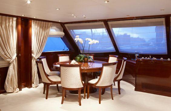 Classic Motor Sailer Yacht Iraklis L Dining Table