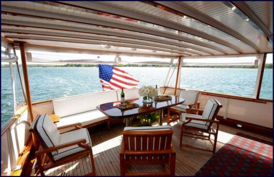 Classic Motor Yacht America Aft Deck