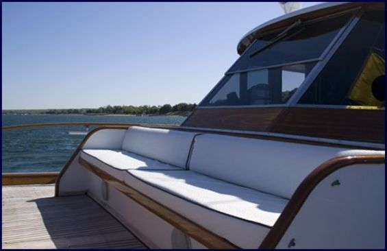 Classic Motor Yacht America Foredeck