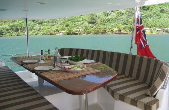 Classic Motor Yacht Beyond Capricorn Aft Deck