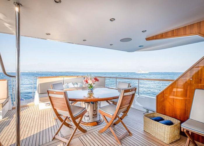 Classic Motor Yacht Chantella Aft Deck