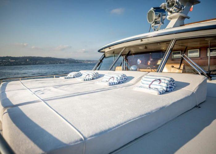 Classic Motor Yacht Chantella Foredeck