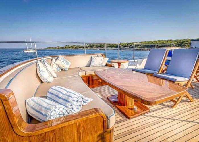 Classic Motor Yacht Chantella On Deck