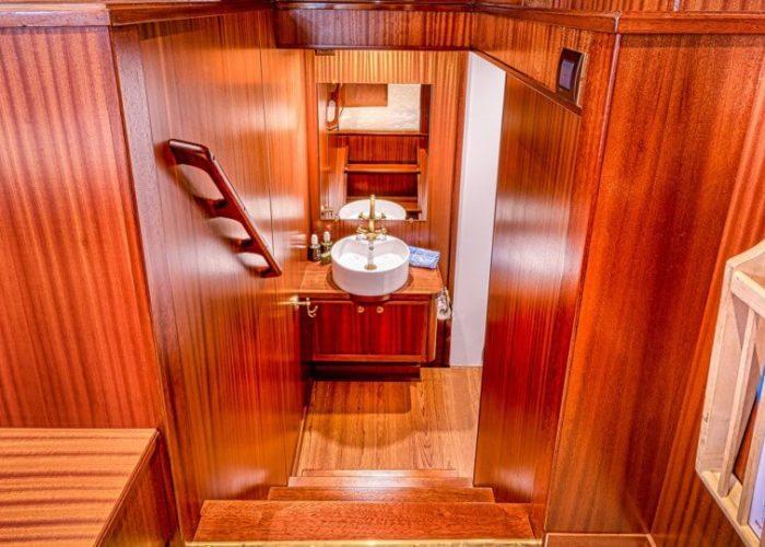 Classic Motor Yacht Chantella Stairs