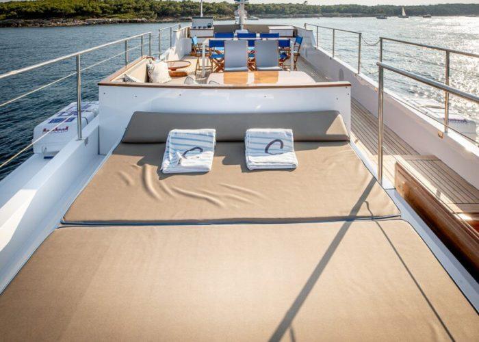 Classic Motor Yacht Chantella Sun Deck