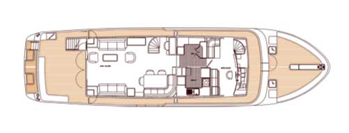 Classic Motor Yacht Escapade Deck Plan