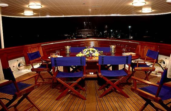 Classic Motor Yacht Fair Lady Dining On Deck