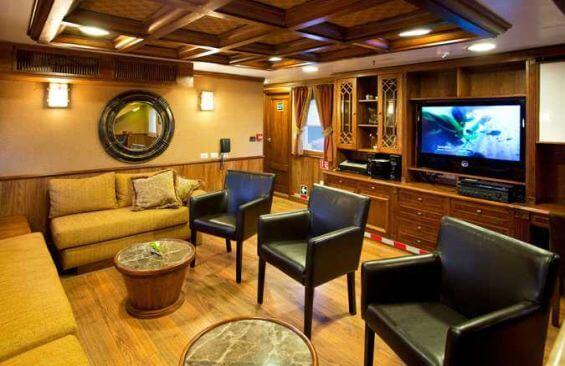 Classic Motor Yacht Grace Saloon