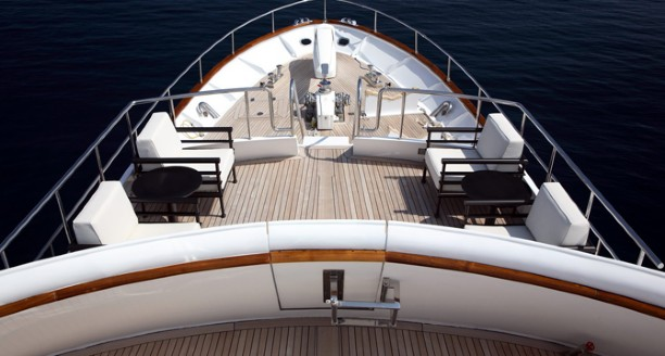 Classic Motor Yacht Happy Hour Foredeck