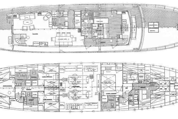 Classic Motor Yacht Heavenly Daze Plans