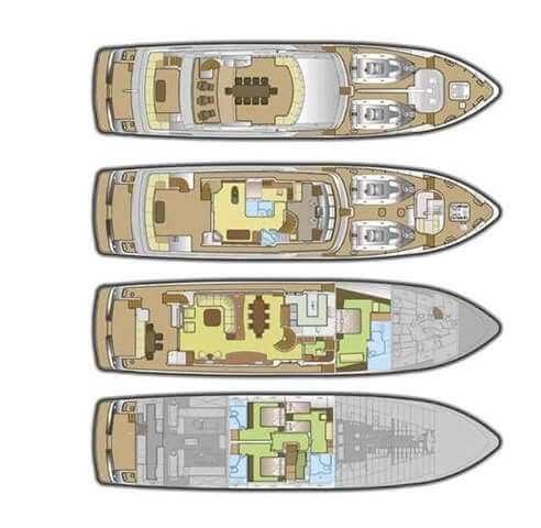 Classic Motor Yacht Koi Deck Plan