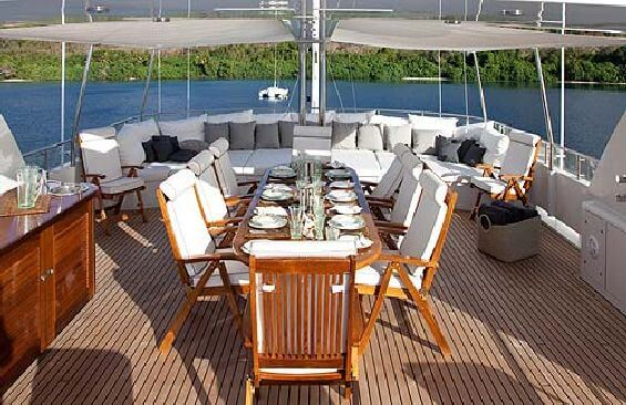Classic Motor Yacht Koi Dining On Deck
