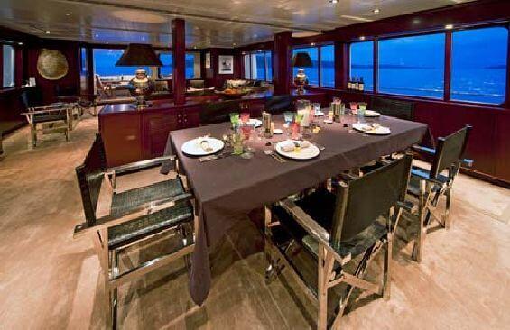 Classic Motor Yacht Koi Dining Table