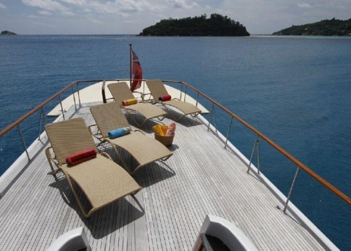 Classic Motor Yacht Le Kir Royal Deck View