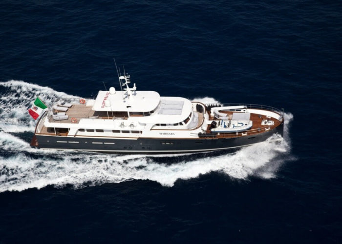 Classic Motor Yacht Marhaba Aerial View