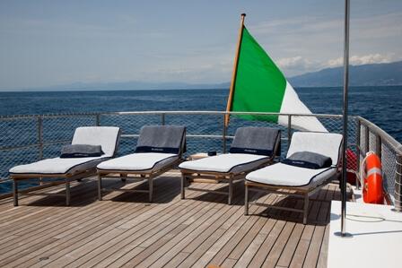 Classic Motor Yacht Marhaba Aft Deck