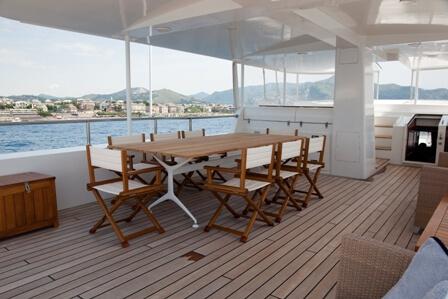 Classic Motor Yacht Marhaba Dining On Deck