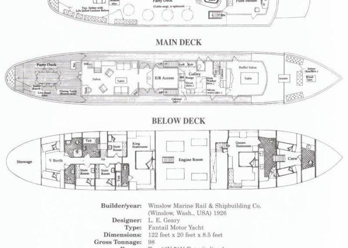 Classic Motor Yacht Mariner III Deckplans