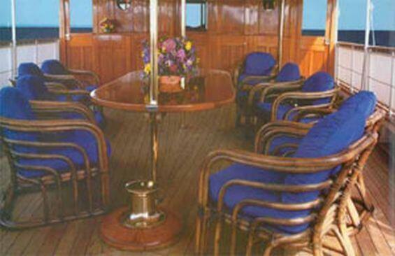 Classic Motor Yacht Mariner III Dining On Deck