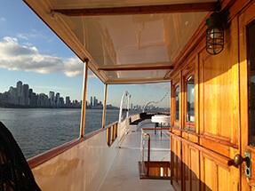 Classic Motor Yacht Mariner III On Deck