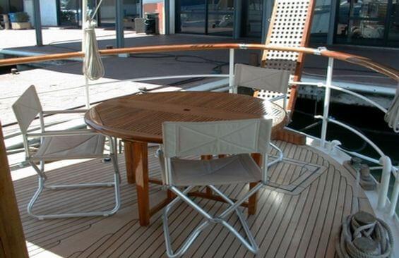 Classic Motor Yacht Noneta Aft Deck