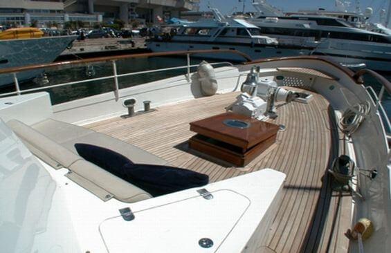 Classic Motor Yacht Noneta Foredeck