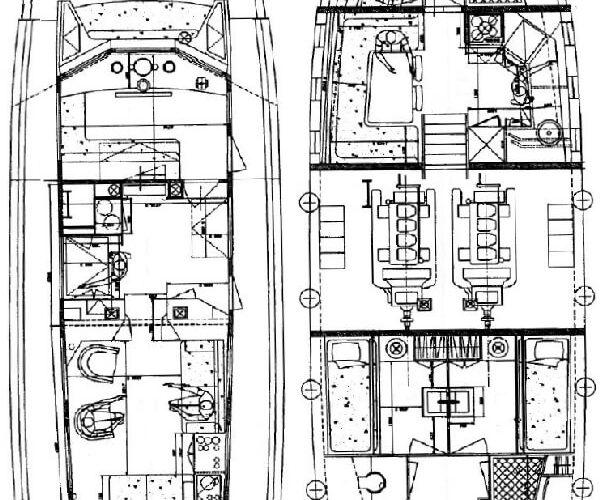 Classic Motor Yacht Noneta Layout
