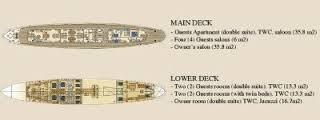 Classic Motor Yacht Seagull II Layout