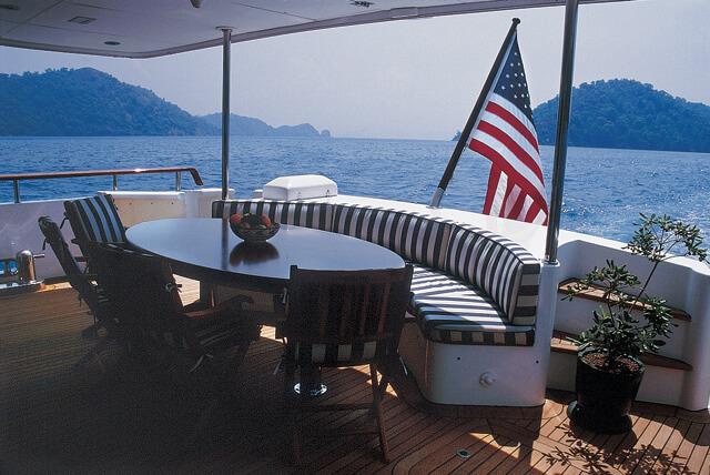 Classic Motor Yacht Tivoli Aft Deck