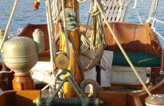 Classic Sailing Yacht Alzavola On Deck