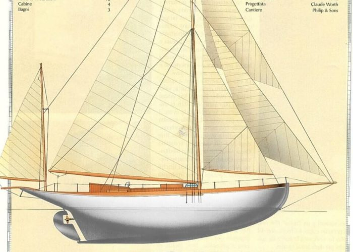 Classic Sailing Yacht Alzavola Plans