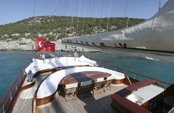 Classic Sailing Yacht Caner 4 Aft Deck
