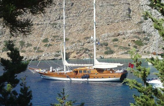 Classic Sailing Yacht Caner 4 Anchored