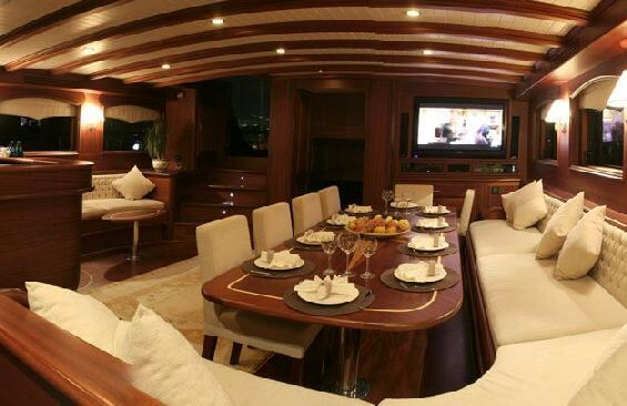 Classic Sailing Yacht Caner 4 Dining