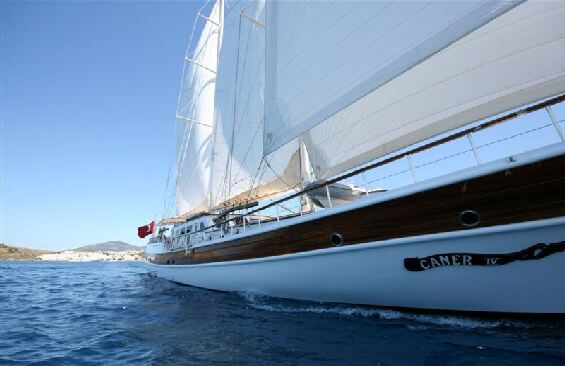 Classic Sailing Yacht Caner 4 Starboard Side