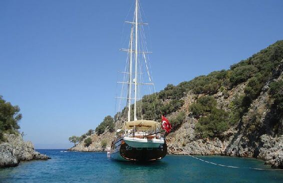 Classic Sailing Yacht Caner 4 Stern