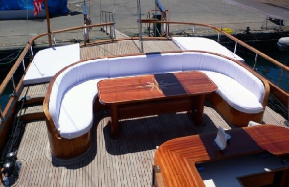 Classic Sailing Yacht Dea Delmare Aft Deck