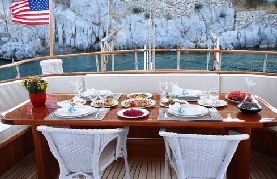 Classic Sailing Yacht Dea Delmare Dining On Deck