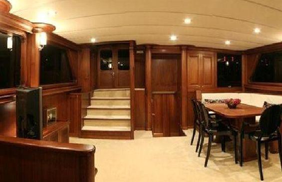 Classic Sailing Yacht Dea Delmare Dining