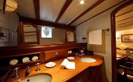 Classic Sailing Yacht Elena Bathroom