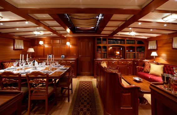 Classic Sailing Yacht Elena Dining Room