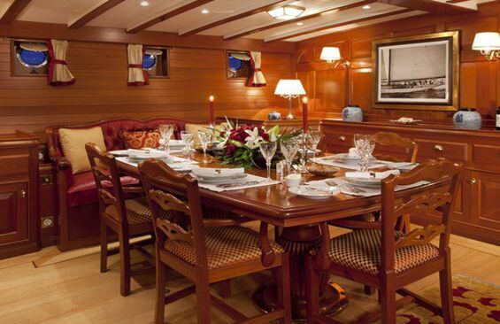 Classic Sailing Yacht Elena Dining Table