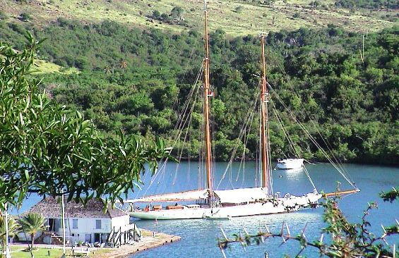 Classic Sailing Yacht Eleonora Anchored