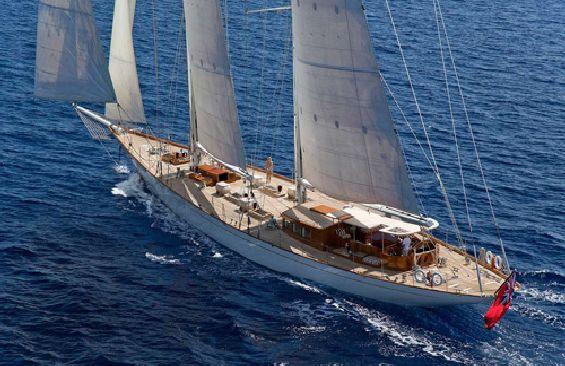 Classic Sailing Yacht Gweilo Aerial View