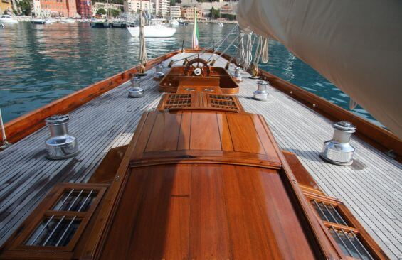 Classic Sailing Yacht Halloween Aft Deck