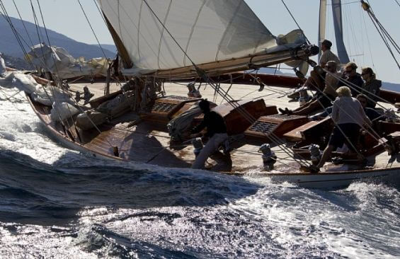 Classic Sailing Yacht Halloween Deck