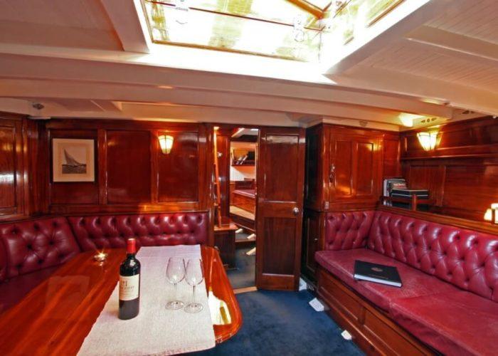 Classic Sailing Yacht Halloween Saloon