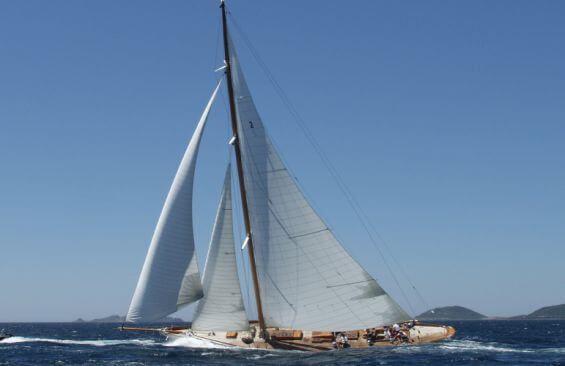 Classic Sailing Yacht Halloween Under Sail