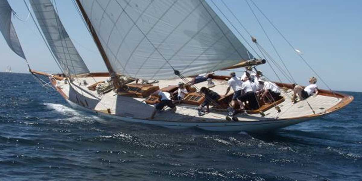 Classic Sailing Yacht Halloween