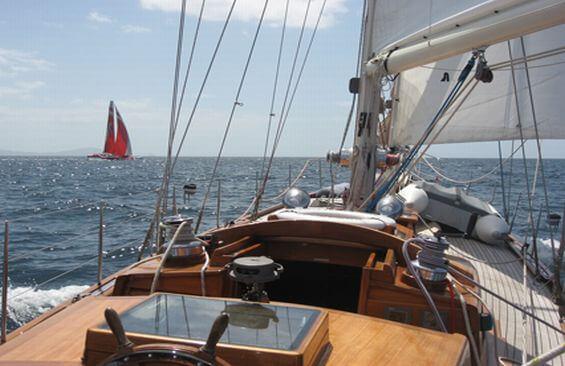 Classic Sailing Yacht Haparanda Deck